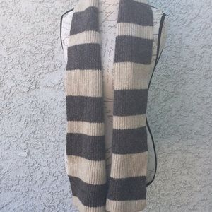 Men's GAP Ribbed Striped Knit Lambswool Scarf 🧣